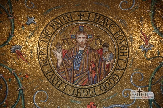 Mosaic of Jesus at St Louis' Cathedral Basilica