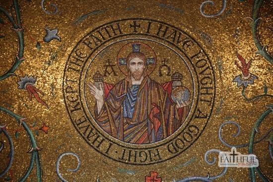 Mosaic of Jesus at St Louis' Cathedral Basilica